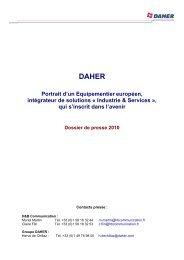 DAHER_Dossier de presse_2010 - Tarbes-Infos