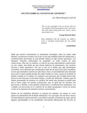 Apuntes sobre el concepto de Copyright - Eseade
