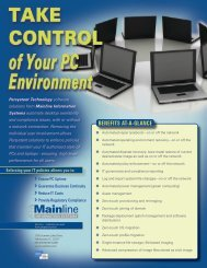 Take Control of Your PC Environment - Mainline Information Systems