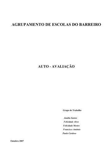 relatório final de auto-avaliação - Agrupamento de Escolas do Barreiro