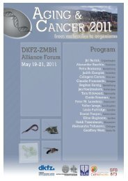 Forum 2011 Aging and Cancer - ZMBH