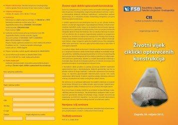 Životni vijek ciklički opterećenih konstrukcija - FSB - Sveučilište u ...