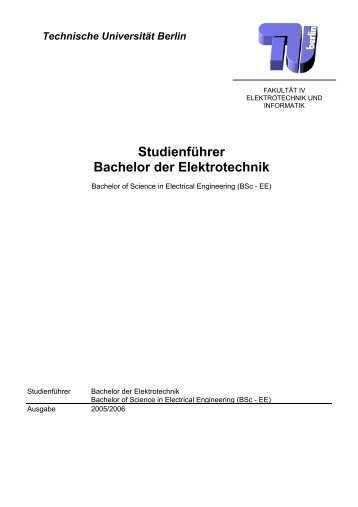 Studienführer Bachelor Elektrotechnik - TU-Berlin, Fachbereich ...