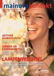 Mainova Kontakt Dezember 2009 (pdf | 5,74 MB - Mainova AG