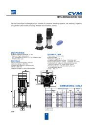 CVM VERTICAL CENTRIFUGAL MULTISTAGE PUMPS ... - inducom