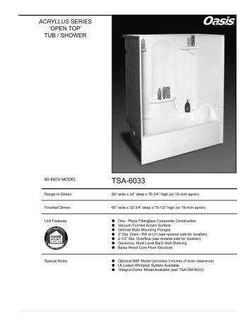 TSA-6033 - Oasis Bath