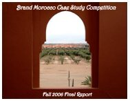 Brand Morocco Case Study Competition - Morocco On The Move