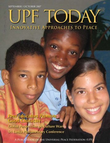 UPF Today: Innovative - The Universal Peace Federation