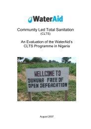 Community Led Total Sanitation - WaterAid