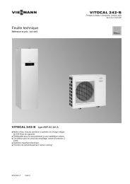 Feuille technique Vitocal 242-S2.5 MB - Viessmann