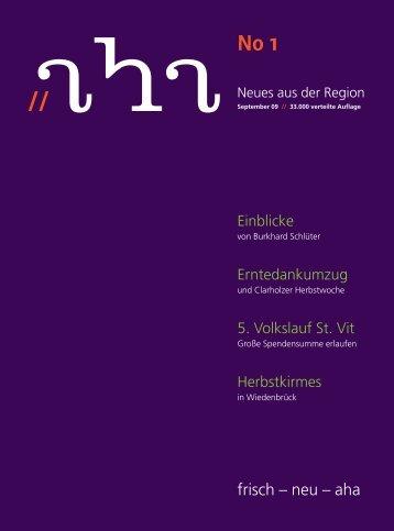 14. Oktober 2009 Sonderthema: Energie sparen! - aha-Magazin
