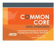 Instructional Planning for the English Language Arts ... - ASCD Groups