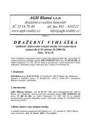 DRA Ž EBN Í VYHL Á Š KA vyhlášení dobrovolné ... - Kasejovice