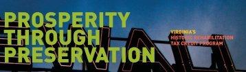 Prosperity through Preservation - Virginia Department of Historic ...