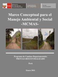 Marco Conceptual para el Manejo Ambiental y Social -MCMAS-