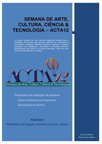 Semana de Arte, Cultura, Ciência e Tecnologia - ACTA 11