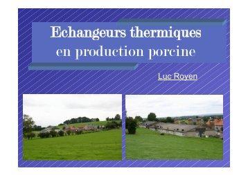 Echangeurs thermiques en production porcine - FACW