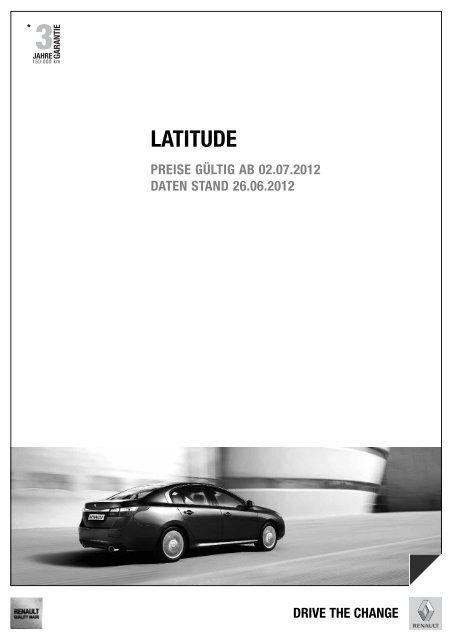latitude preisliste - Renault