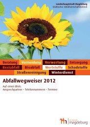 Abfallwegweiser 2012 - Magdeburg