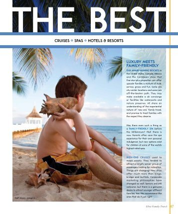 cruises  spas  hotels & resorts luxury meets family ... - The Best