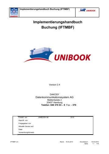 UNIBOOK Buchung - DAKOSY Datenkommunikationssystem AG
