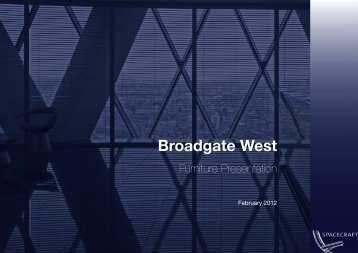 Broadgate West - Vitra Furniture, Knoll Furniture, Knoll dealer