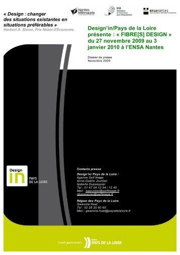Exposition Fibres design. Le dossier de presse - Conseil Régional ...