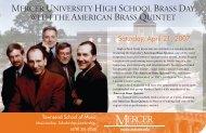 mercer university high school brass day with the american brass ...