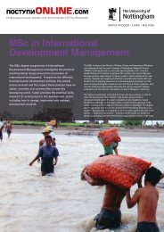 MSc International Development Management Brochure