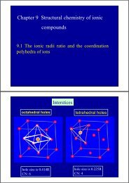 Chapter 9 Structural chemistry of ionic compounds