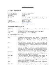 CURRICULUM VITAE I. - Ciudadania Bolivia