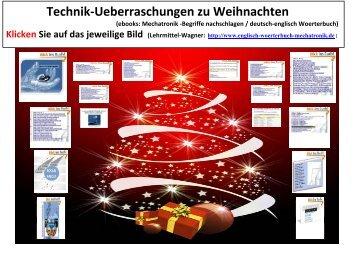 Weihnachtsgeschenk gesucht? Technik-Ueberraschungen (elektronische Buecher ebooks begriffe nachschlagen Mechatronik Woerterbuch deutsch-englisch)