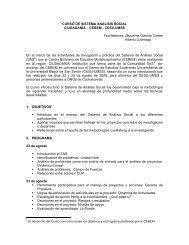 CURSO DE SISTEMA ANÁLISIS SOCIAL CIUDADANÍA – CEBEM ...