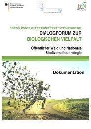Dialogforum zur biologischen Vielfalt - Biodiversität - schützen ...