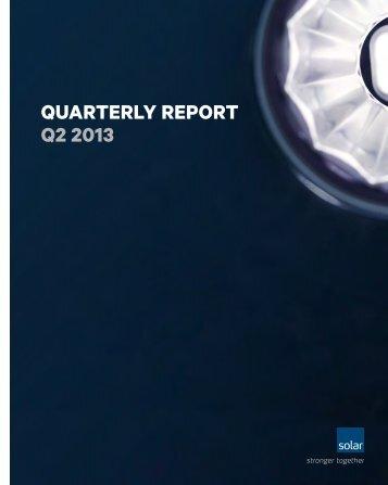 Quarterly report Q2 2013 - Solar.eu