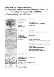 Programm zur Festveranstaltung - MTV Schöningen von 1861 e.V.