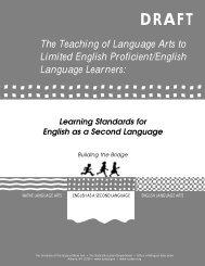 ESL Learning Standards - Higher Ed - New York State Education ...