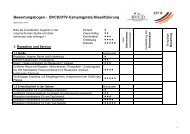 Bewertungsbogen - BVCD/DTV-Campingplatz-Klassifizierung