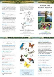Paxton Pits Nature Reserve Leaflet - Huntingdonshire District Council