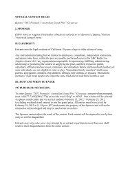 """OFFICIAL CONTEST RULES Qantas """"2012 Formula 1 ... - ESPN"""