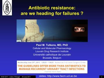Antibiotic resistance - Cellular and Molecular Pharmacology - UCL