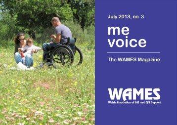 me voice July 2013 - WAMES