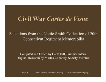 Civil War Cartes de Visite - The Cheshire Historical Society