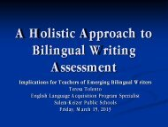 A Holistic Approach to Bilingual Writing Assessment - Cosa