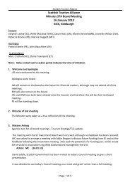 STA Board Meeting Minutes 16/1/13 - Scottish Tourism Alliance