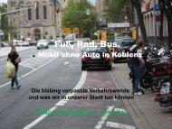 Fuß, Rad, Bus. - BUND Kreisgruppe Koblenz