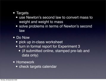 day 28 - Newton's 2nd law