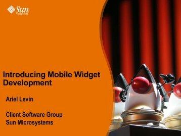 Introducing Mobile Widget Development - download - Java