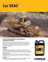 Cat® DEAC™ (Diesel Engine Antifreeze/Coolant) - Caterpillar Oil ...