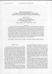 POLLINATION BIOLOGY OF HERACLEUM SPHONDYLIUM L ...
